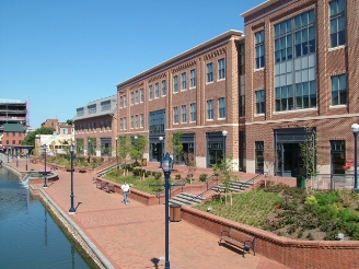 EchoQuote offices on Carroll Creek in Frederick, Maryland, USA